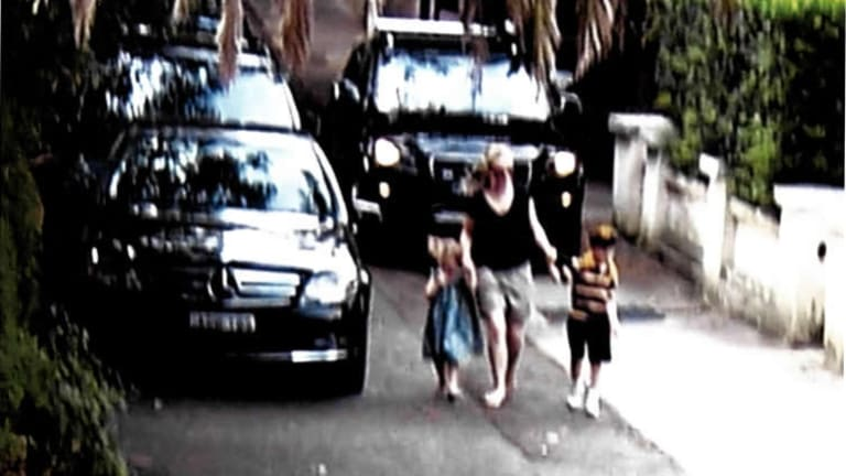 """An image from the court judgment showing pedestrians """"in conflict with a vehicle driving along the footpath element of the service road""""."""