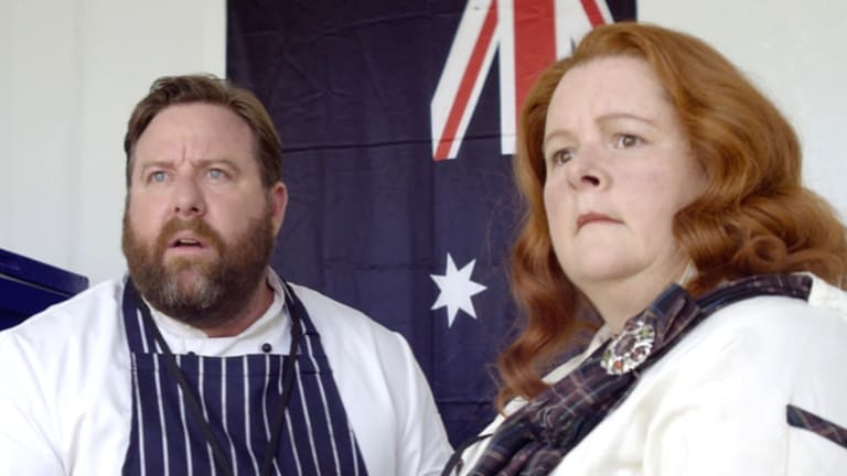A still from the film featuring Shane Jacobson and Magda  Szubanski.