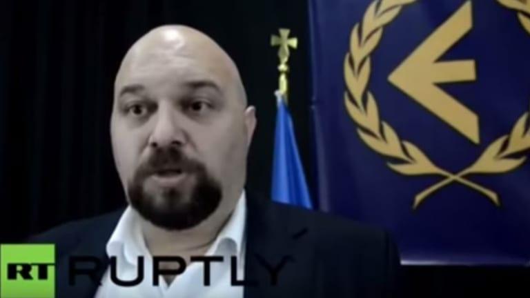 Elias Panagiotaros on Russian television last year.