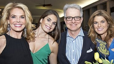 Charity event: Hope Hicks (second from left) with her mother Caye Hicks (left), her father Paul Hicks, and sister Mary Grace Hicks.