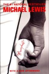 The cover of Michael Lewis' 2004 book on the Oakland A's, <i>Moneyball</i>. Lewis has also written books on the investment industry, including <i>Liar's Poker</i> and <i>The Big Short</i>.