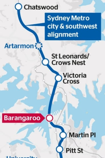 The planned new station at Barangaroo.