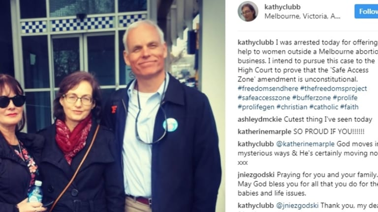 Kathy Clubb posted this on social media on the day she was arrested in August last year.