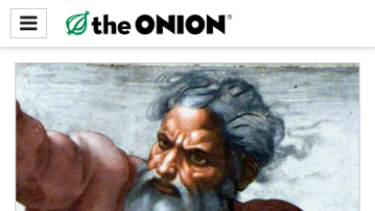 The home page of the Onion: The satirical news website has been valued at more than some of the serious newspapers it parodies.