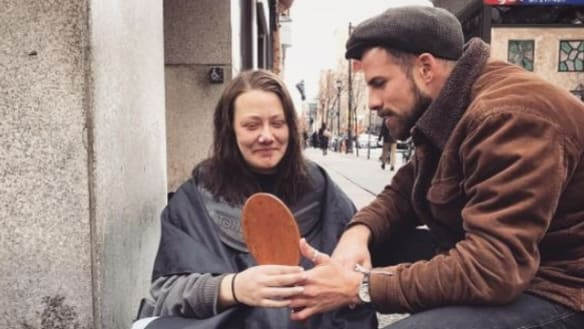 Meet the globe-trotting hairdresser who helps homeless people look sharp