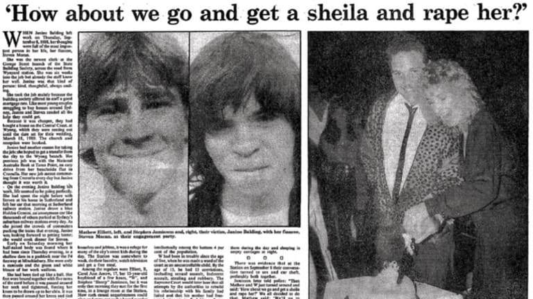 Teen killers' life sentences attacked: A report in the <em>Herald</em> on June 23, 1990, on the trial of Matthew Elliott, left, who was 16, and Wayne Jamieson, who was 22, when they murdered Janine Balding, right, pictured with her fiance.