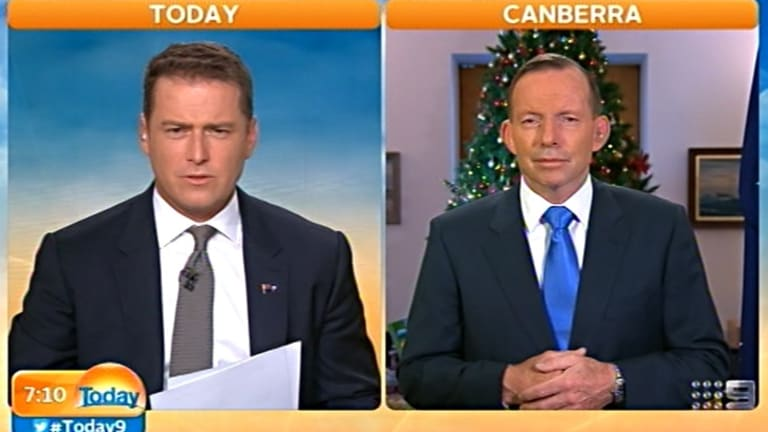 Karl Stefanovic interviews Tony Abbott on the Today Show. He has become increasingly know for his tough interview and editorials.