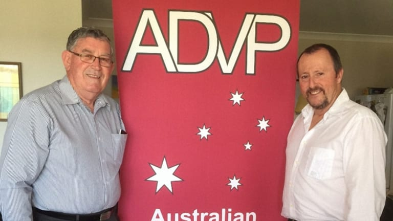 The home of Vic 'Smokey' Dawson (left) was broken into while his party was launching its first WA candidate Dr Greg Smith.