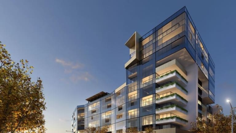 The planned 12-storey tower block on the corner of AInslie Avenue and Cooyong Street, now approved.