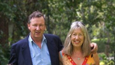 John Davis with his wife Felicity.