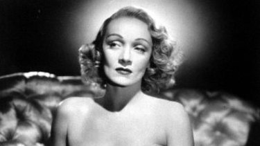 Marlene Dietrich in Hitchock's Stage Fright.