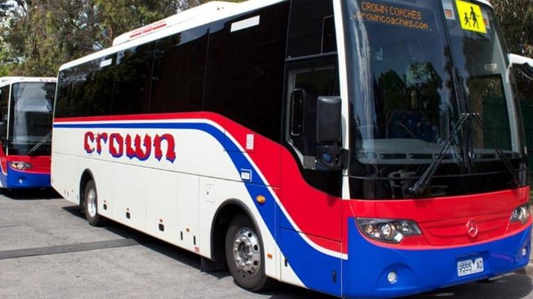 A Crown Coaches bus.