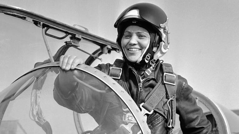 Marina Popovich became the first female pilot to break the sound barrier in a MiG-21 fighter jet.