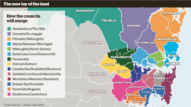 How the new council boundaries will look.