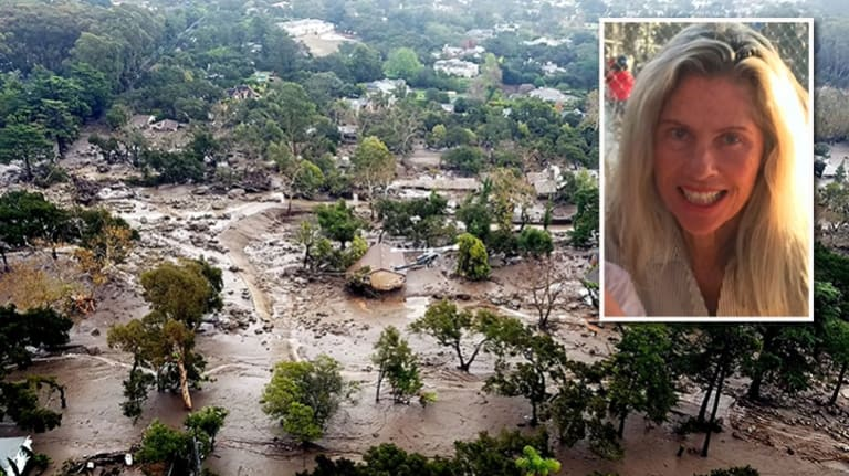 Josie Gower, 69, had only just returned home after severe fires when mudslides hit California.