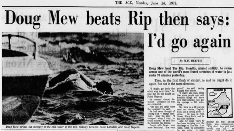 The Age story about Doug Mew's swim.