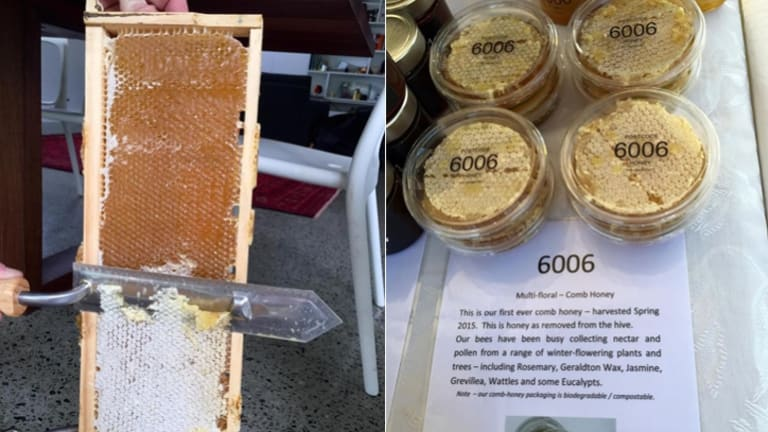 (L-R) Honey production in Karrinyup. Selling locally at various farmer's markets.