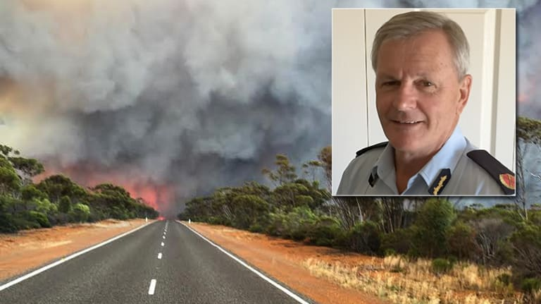 Trevor Tasker (inset) saw the firestorm approaching from Esperance.