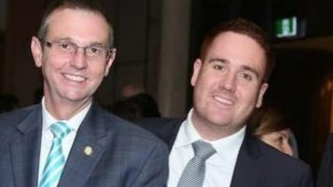 At 26, Mitchell Price (right) is already well-established in the Liberal Party where he works as a senior adviser to Coogee MP Bruce Notley-Smith (left).