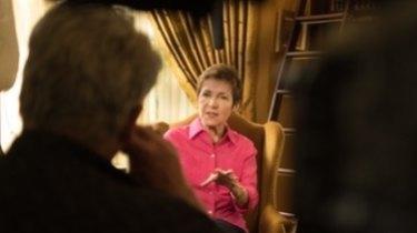 Filmmaker Bill Bennett interviews Carolyn Myss, author of <I>Anatomy of the Spirit</I>, for the documentary.
