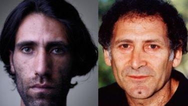 Behrouz Boochani, left, and Arnold Zable.