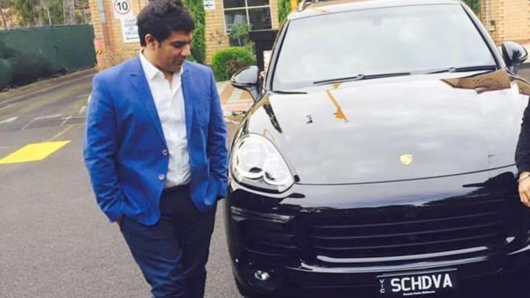 Education salesman Gagan Sachdeva and his new Porsche.