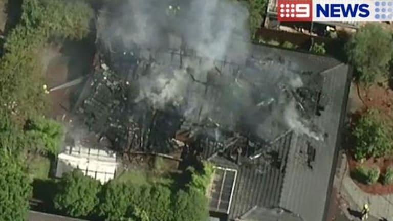 The family's Doncaster home was destroyed in the fire.