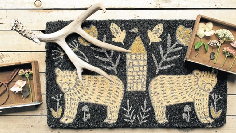 Grand entrance: Wild Tale doormat,The Colour Society.