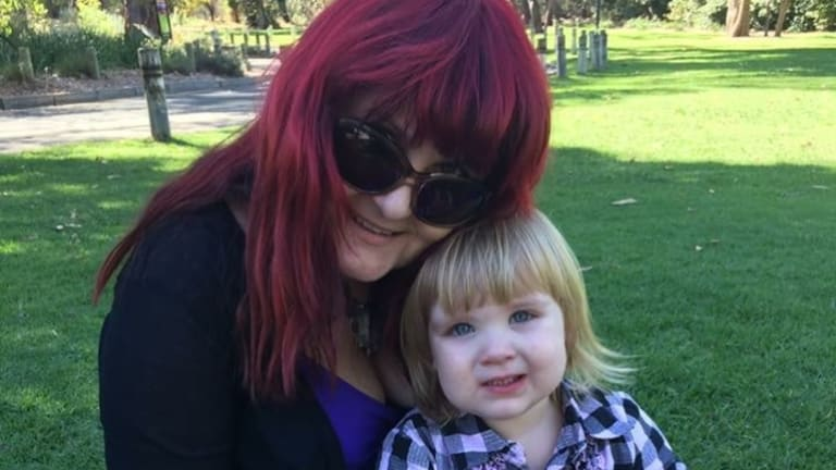 Mrs Strange with her granddaughter at the park.
