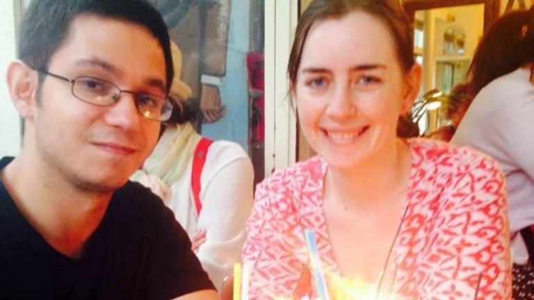 Maisie Dubosarsky with her boyfriend Simon Fieschi, who was shot in the Paris attacks.