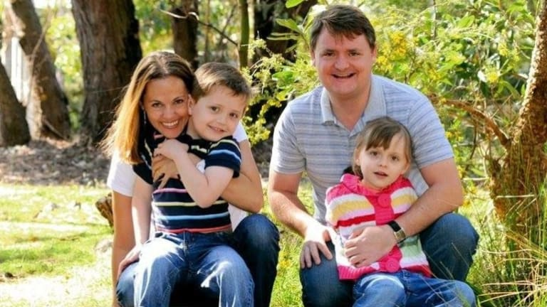 Maria Claudia Lutz and Fernando Manrique with their children, Martin and Elisa.