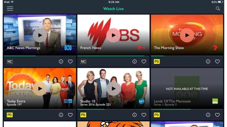 The Freeview FV app lets Australians watch live television on the go.