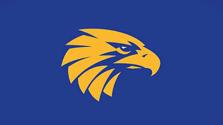 The West Coast Eagles' new logo was unveiled by current and past greats of the club.