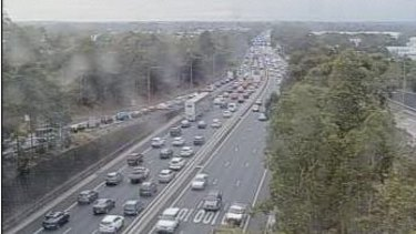 Traffic queued for more than 13 kilometres after the crash on the M5 closed two city-bound lanes.
