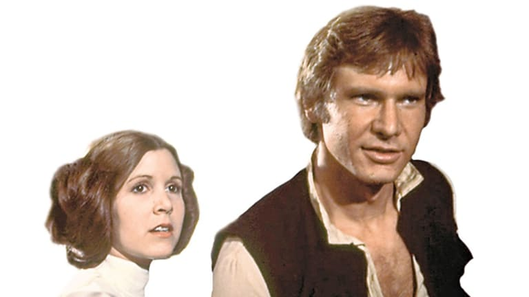 Carrie Fisher, left, was just 19-years-old when landed the role of Princess Leia in the original Star Wars trilogy.