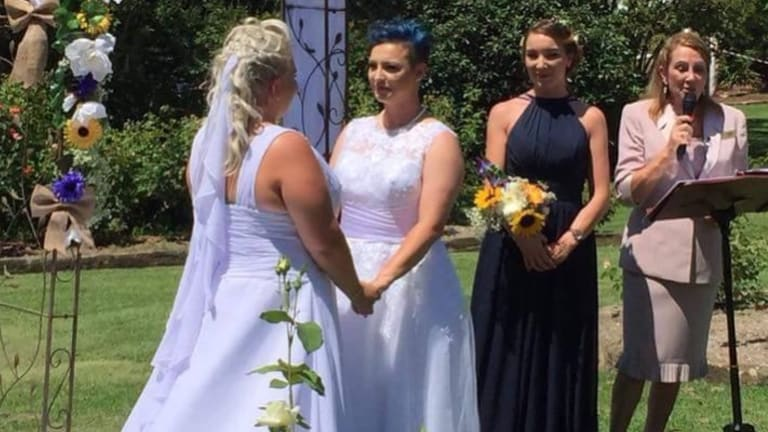 Australia's first same-sex marriage couples take the plunge in the Sydney sunshine.