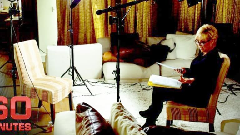 Liz Hayes on the set of <i>60 Minutes.</i>