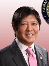 Senator Ferdinand Marcos jnr will run for vice-president.
