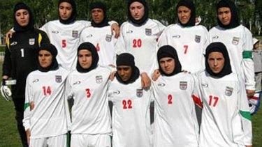 In the spotlight: Iran Women's National Football team.