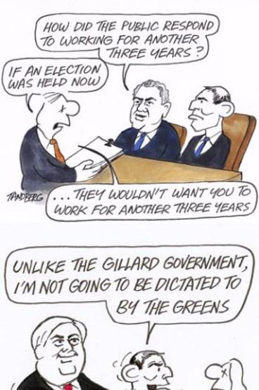 Tony Abbott has kept Ron Tandberg busy all year.