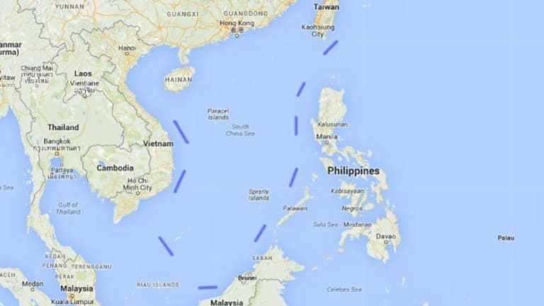 The Nine Dash Line. By asserting its control over the Spratly Islands Beijing is able to re-enforce the eastern edge of earlier claims in the South China Sea.