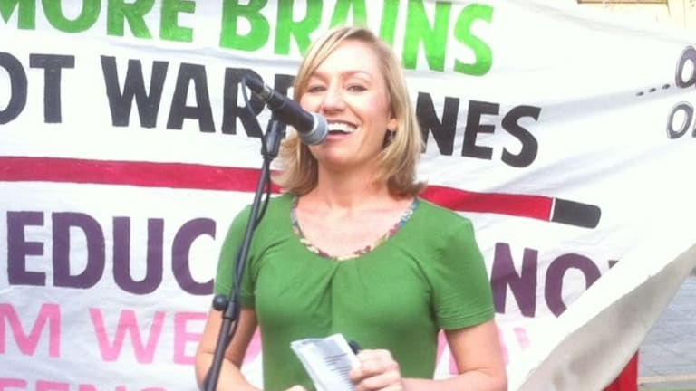 """Greens Senator Larissa Waters: """"This is how change is made, ladies. Congratulate yourself – you've had a great year."""""""