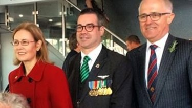 Mr Keough, centre, with Gabrielle Upton and PM Malcolm Turnbull in 2015.