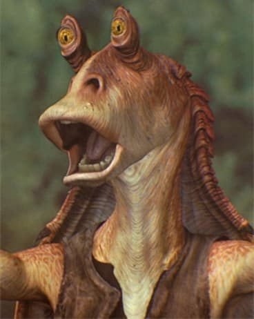 Jar Jar Binks - formerly of <i>Star Wars</i> fame.