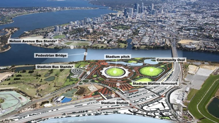 Perth's new multi-purpose stadium on the Burswood Peninsula and is scheduled for completion in 2018.