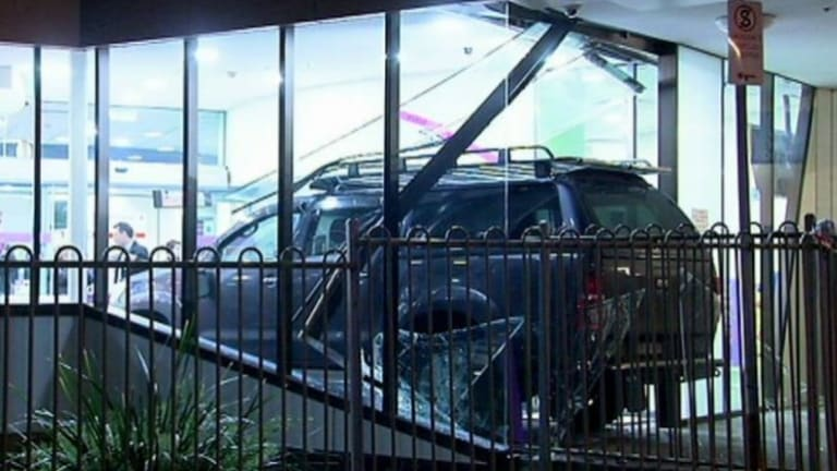 A man drove his 4WD through the doors of Sunshine Hospital in October.