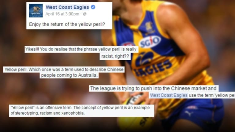 The Eagles' previous attempts to promote a predominantly yellow jumper ended up in a PR disaster over racial undertones.