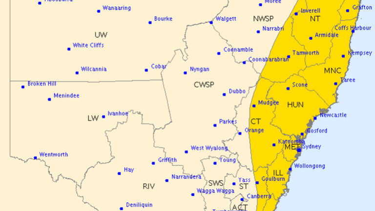 The Bureau of Meteorology has issued a severe warning, forecasting damaging winds, heavy rainfall and dangerous surf.