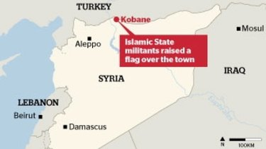 UNDER PRESSURE: Fighting has intensified in Kobane.