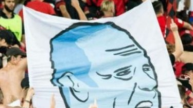 Supporter ban: A cropped section of the offending banner.
